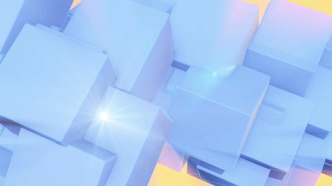 abstract cubes in rotation- animation Stock Video Footage