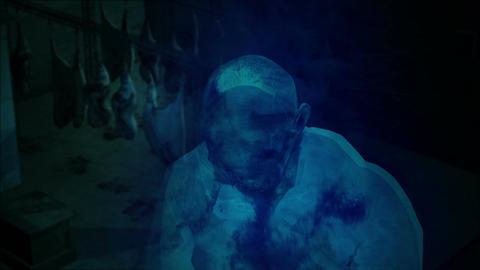 3d rendering animation - Horror Zombie with Effects, mixed media of two CG anima Animation