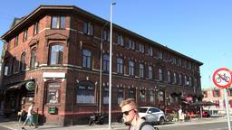 Denmark Scandinavia coastal city of Aarhus harbor bar in an old building Image