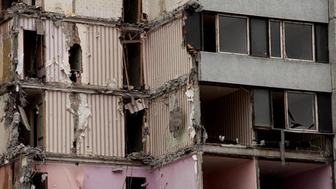 destroyed building Stock Video Footage