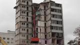 Timelapse demolition machine Footage