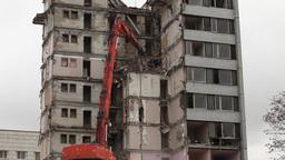 demolition of buildings Stock Video Footage