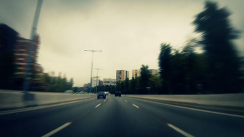 Car trip 02 Stock Video Footage