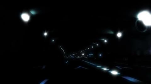 Night car trip 04 Stock Video Footage