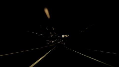 Night car trip 02 Stock Video Footage