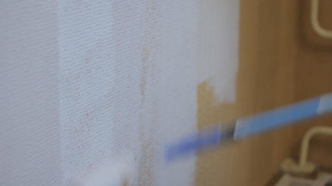 roller painting wall white paint movie Footage