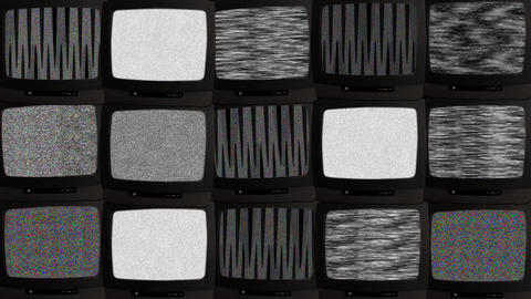 TV wall 02 B Stock Video Footage
