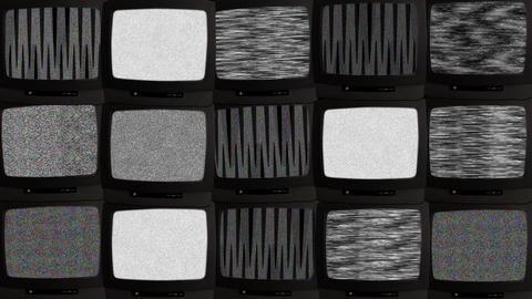TV wall 02 B Stock Video Footage