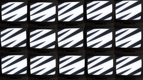 TV wall 01 B Stock Video Footage