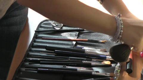 cosmetic kit Stock Video Footage