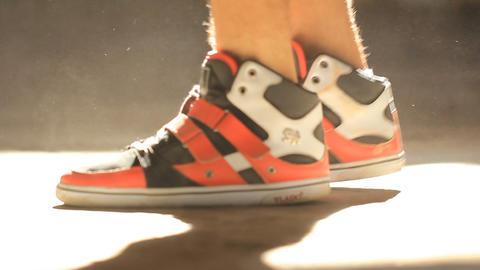 Urban Hip-hop Teenager dubstep dancer dancing brea Stock Video Footage