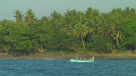 Indonesian fishing boat Stock Video Footage