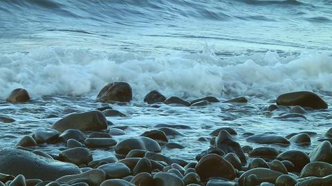 Rock beach Stock Video Footage