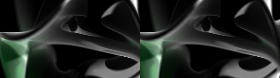 Twisted Chrome Swirl - Stereoscopic 3D Stock Video Footage