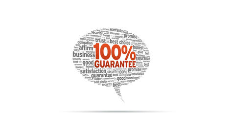 100% Guarantee Speech Bubble Stock Video Footage