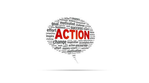 Action Speech Bubble Stock Video Footage