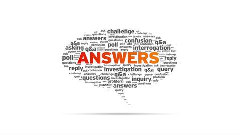 Answers Speech Bubble Stock Video Footage