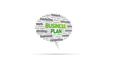 Business Plan Speech Bubble Stock Video Footage