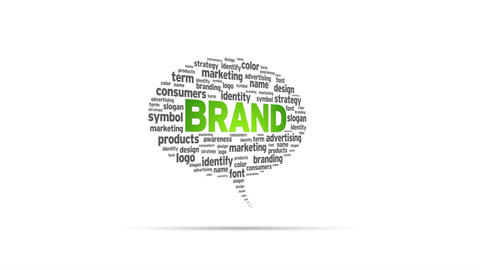 Brand Speech Bubble Stock Video Footage