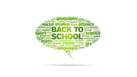 Back to School Speech Bubble Stock Video Footage