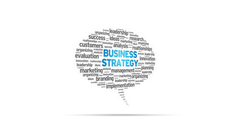 Business Strategy Speech Bubble Stock Video Footage