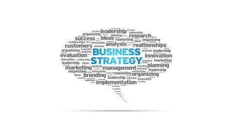 Business Strategy Speech Bubble Stock Video Footage