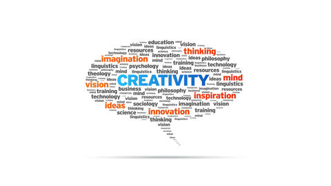 Creativity Speech Bubble Stock Video Footage