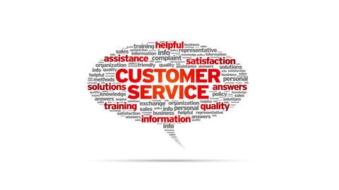 Customer Service Speech Bubble Stock Video Footage