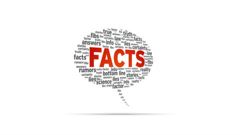 Facts Speech Bubble Stock Video Footage