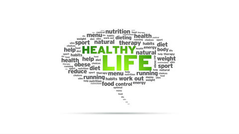 Healthy Life Speech Bubble Stock Video Footage