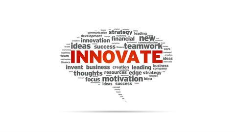 Innovate Speech Bubble Stock Video Footage