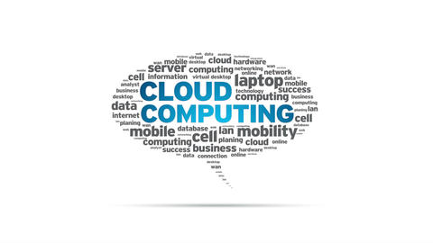 Cloud Computing Speech Bubble Stock Video Footage