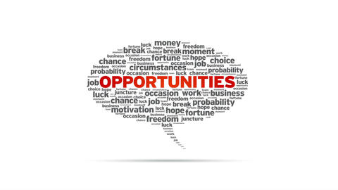 Opportunities Speech Bubble Stock Video Footage