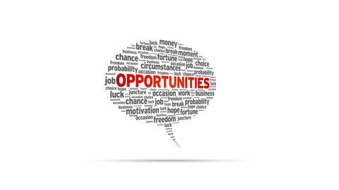 Opportunities Speech Bubble Stock Video Footage