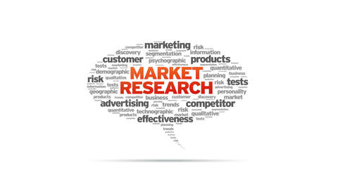 Market Research Speech Bubble Stock Video Footage