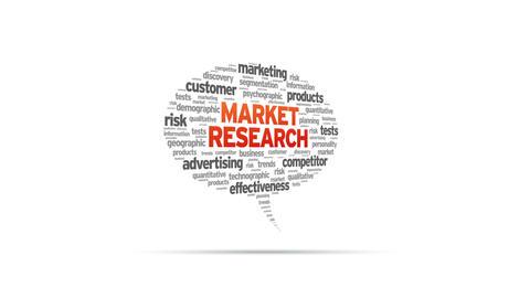 Market Research Speech Bubble Stock Video Footage