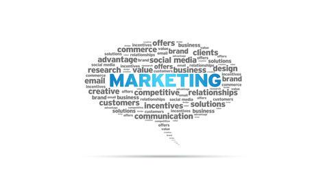 Marketing Speech Bubble Stock Video Footage