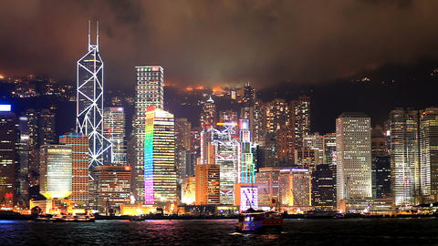 Hong Kong architecture. Timelapse Stock Video Footage