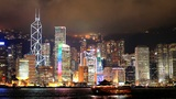 Hong Kong architecture. Timelapse Footage
