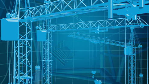 Construction background 3 Stock Video Footage
