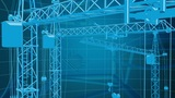 Construction Background 3 stock footage