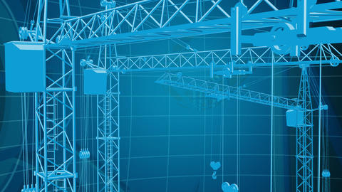 Construction background 3 Animation