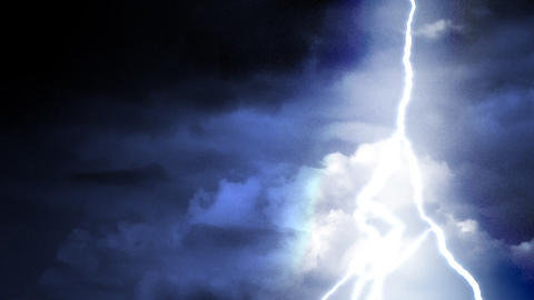 Lightning sequence in colors Stock Video Footage