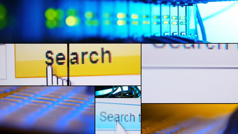 Montage Search the Web Stock Video Footage