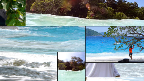 Montage Vacation 3 Stock Video Footage