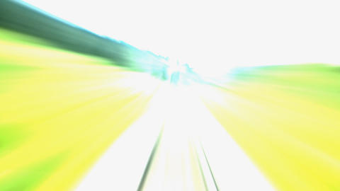 railroad turning right 14s Stock Video Footage