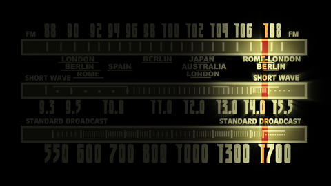 Retro radio tune 1 Stock Video Footage