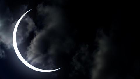 Romantic moon Stock Video Footage