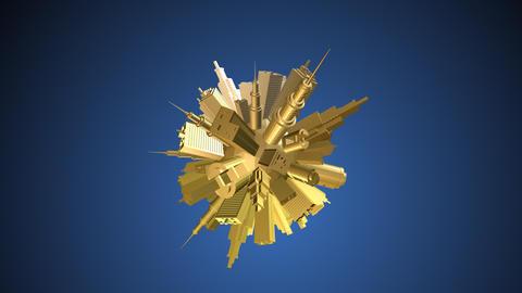Skyscrapers globe 6 Stock Video Footage