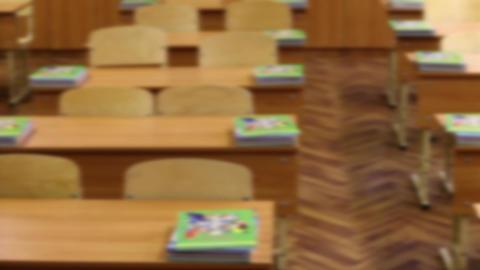 empty classroom Stock Video Footage